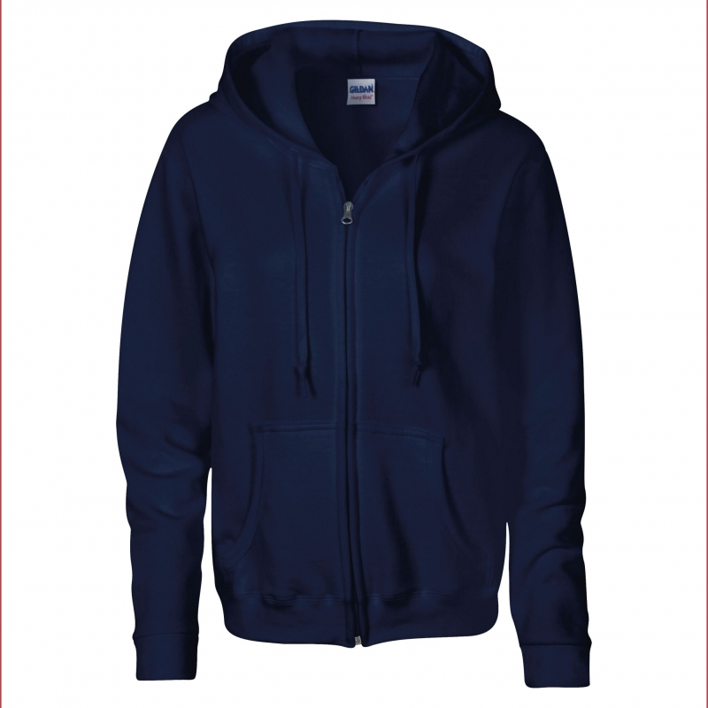 Fern Hollow Adult Unisex Zipped Hoodie - navy