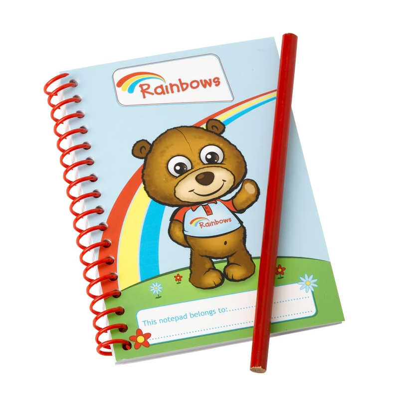 Rainbows Notepad and Pencil