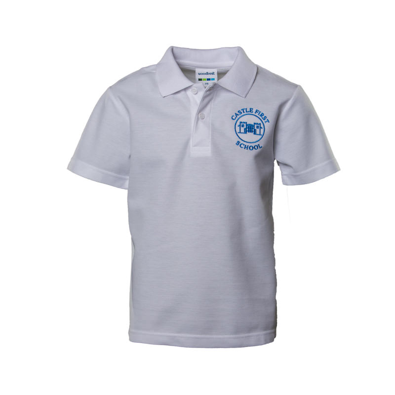 Prudhoe Castle White Polo Shirt
