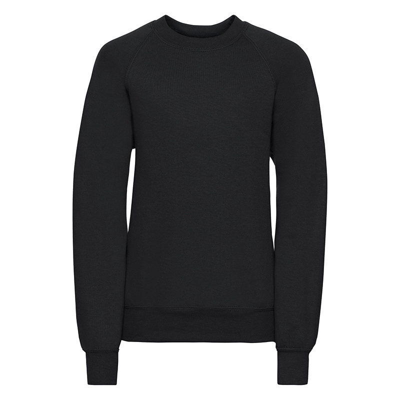Plain black sweatshirt ADULT