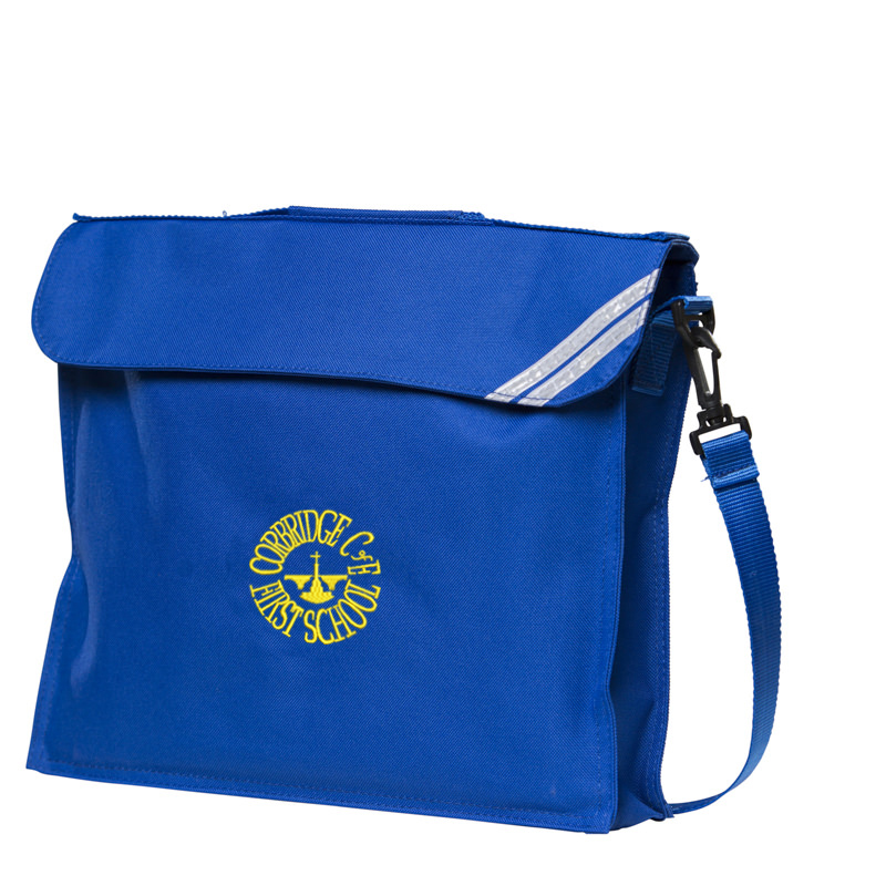 Corbridge First School Book Bag with strap