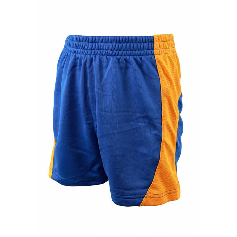 Highfield Middle School PE Shorts Royal/Amber