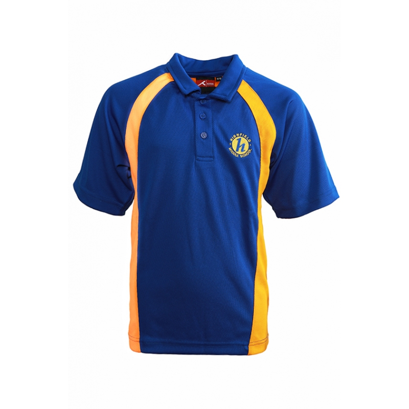 Highfield Middle School Unisex PE Polo Shirt
