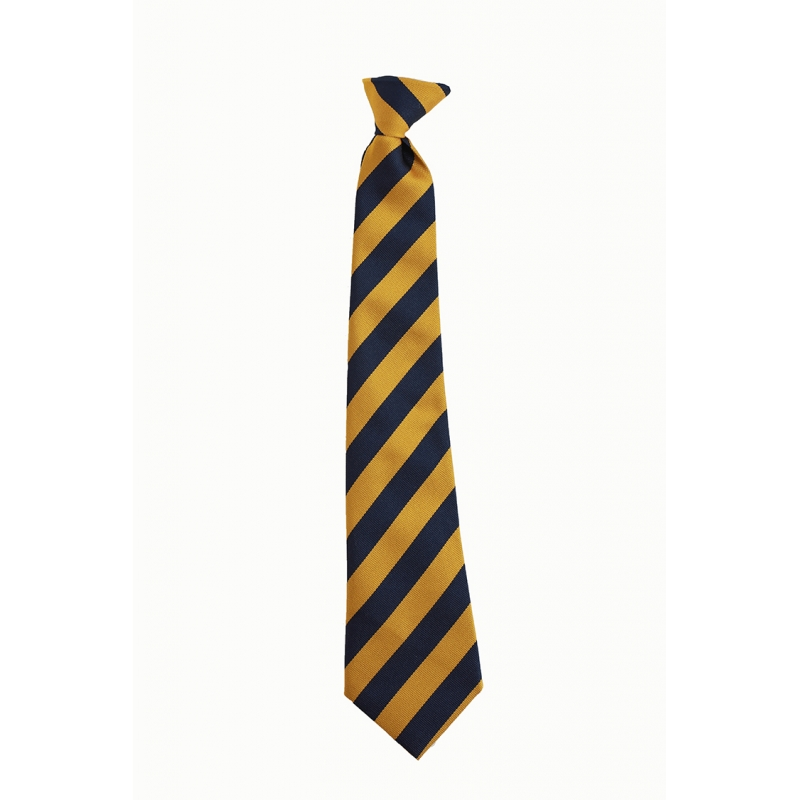 St Joseph's  R.C. MiddleSchool Navy/Gold Clip On Tie