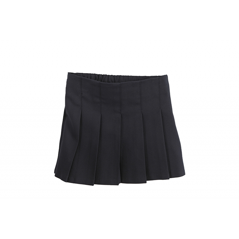 Junior Girls' Pleated Skirt Navy