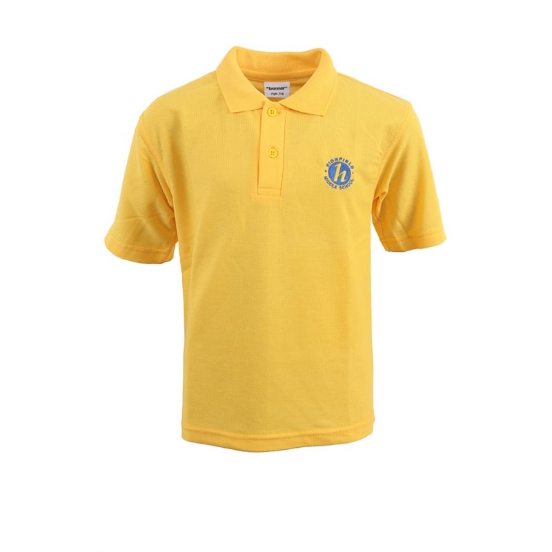Highfield Middle School Polo Shirt - Gold