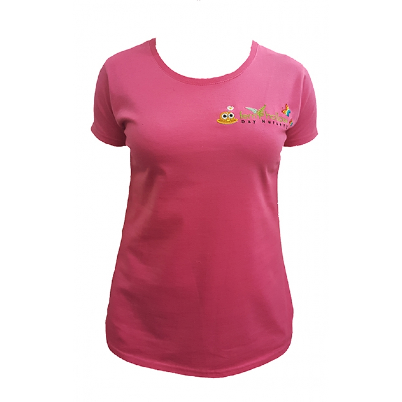 Fern Hollow Adult T shirt - pink