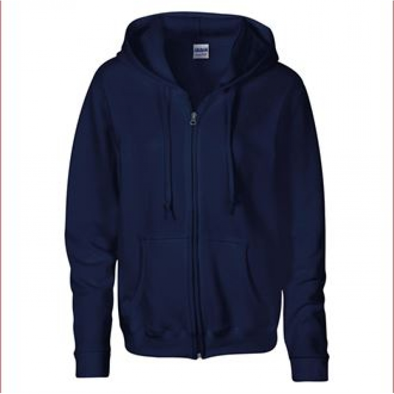 Fern Hollow Ladies' Fit Zipped Hoodie - navy