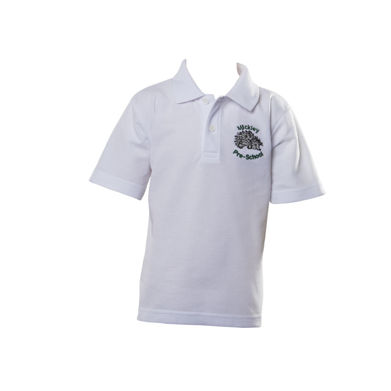 Mickley Pre School Polo Shirt -  White