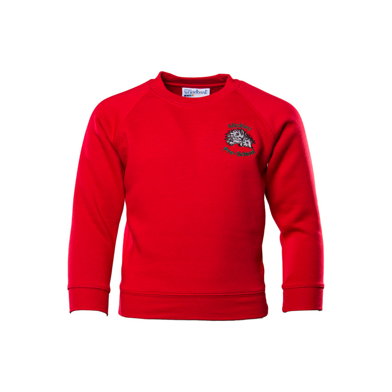 Mickley Pre School Unisex Sweatshirt - Red