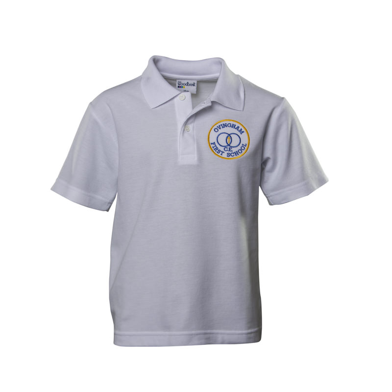 Ovingham C of E First School Polo Shirt - White