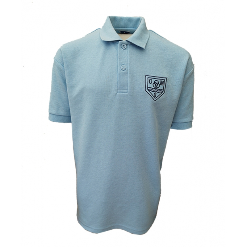 Ovingham Middle School Polo Shirt - Sky