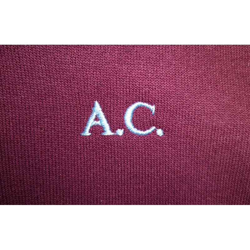 Prudhoe Castle embroidered initials