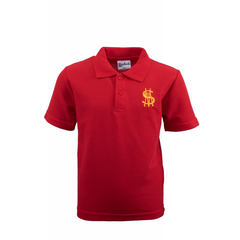 St Matthew's Nursery Polo Shirt Red