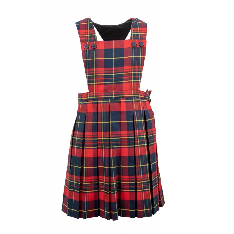 St Matthew's Tartan Pinafore Dress