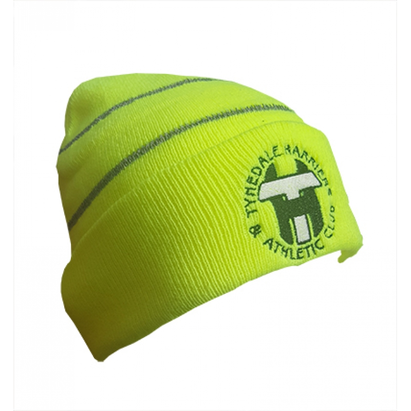 Tynedale Harriers Hi Viz Knitted Hat