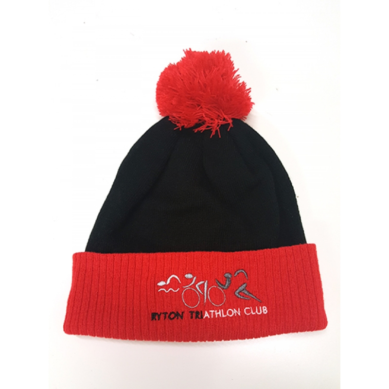 Ryton Tri Bobble Hat - Black and Red