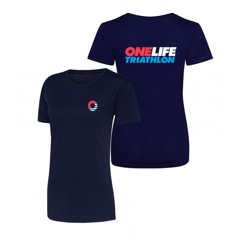 One Life Ladies' Cool T shirt - Navy