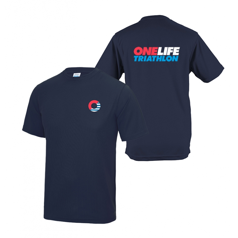 One Life Mens' Cool T shirt - Navy