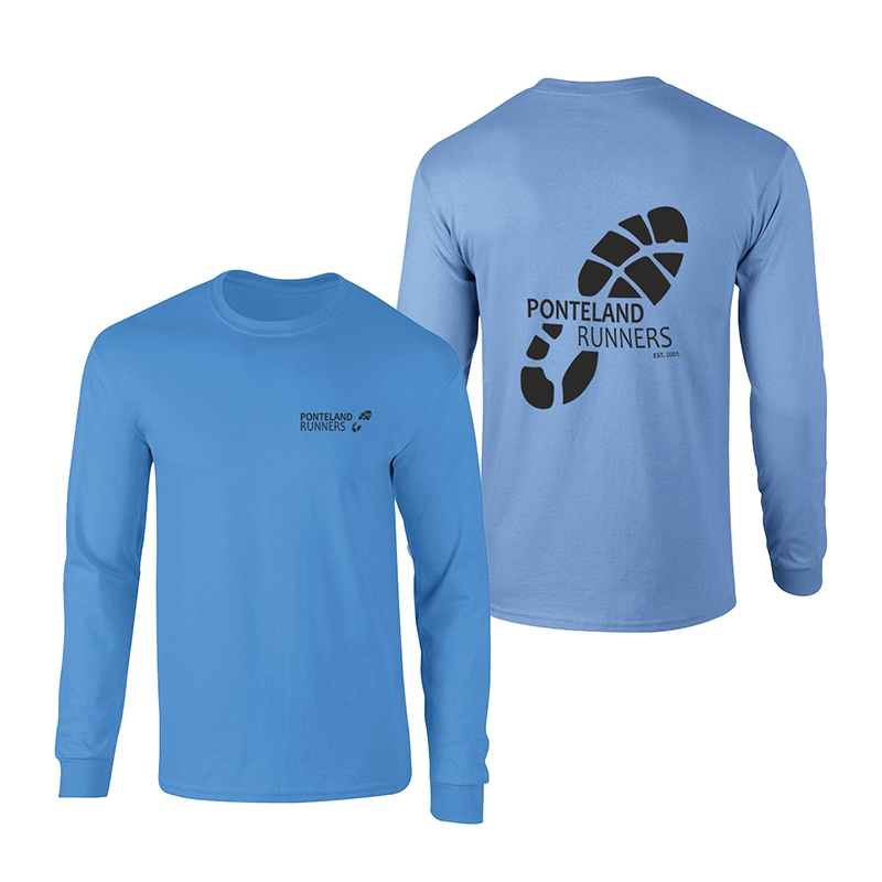 Ponteland Runners Long Sleeve 100% Cotton T Shirt