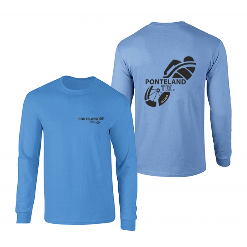 Ponteland Tri  Long Sleeve 100% Cotton T-shirt